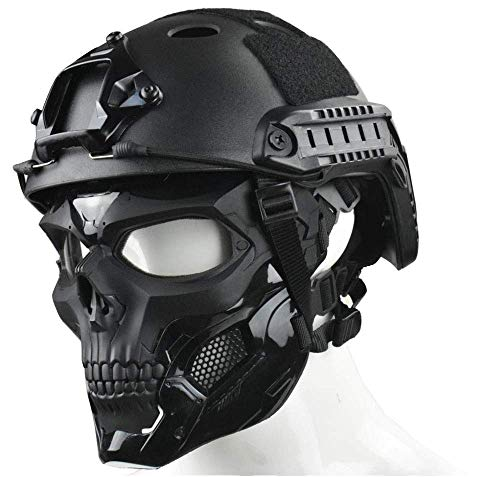 WLXW Tactical Airsoft Mask und Fast Paintball Helm,...