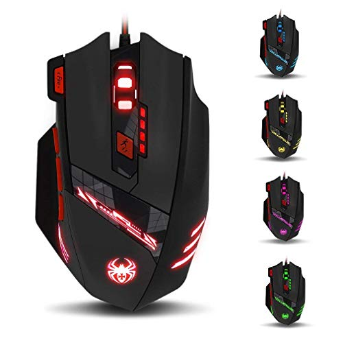 zelotes T90 Gaming Maus 9200 DPI, 8 Tasten, Multi-Modi LED, USB...