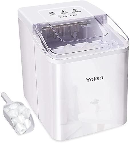 YOLEO Eiswürfelmaschine, leise Ice Maker 9 Eiswürfel in 8...