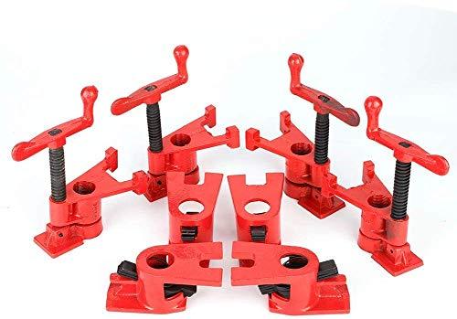 4 sets Clamp Schraubzwingen-Set, Rohr-Schraubzwinge Silber F Klemmen Schnellspanner Clamp Wood...