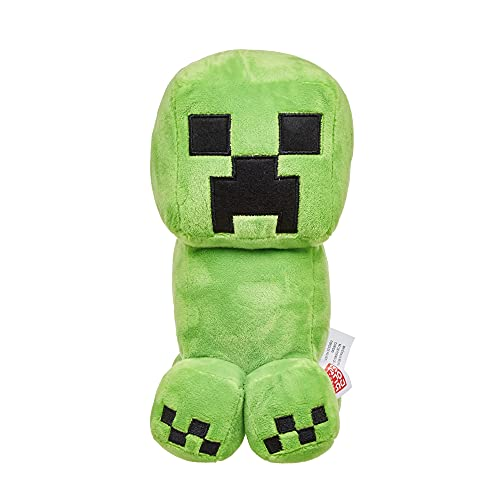 Minecraft HBN40 - Creeper Plüschfigur, ca. 21cm, weich,...