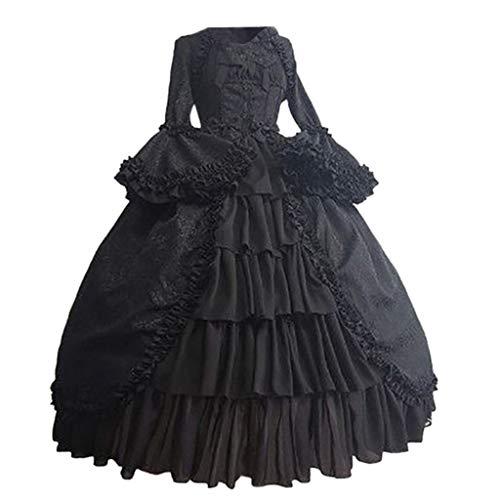 Riou Kleider Halloween Kostüm Damen Winter Steampunk Gothic...