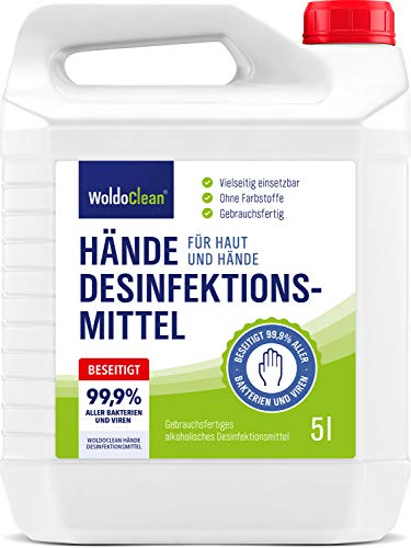 Desinfektionsmittel 5l Hände & Haut mit Rückfetter - ohne...