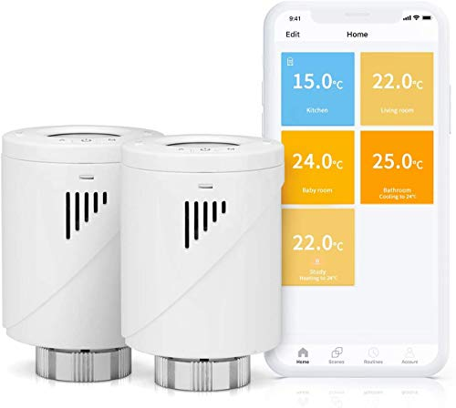 Meross Smart WLAN Heizkörperthermostat, benötigt Hub,mit...