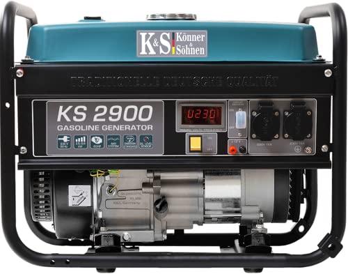 Benzingenerator KS 2900, notstromaggregat 2900 W, 2x16A (230 V),...