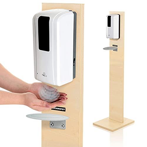 KRIEG Desinfektionsmittelständer Holz Sensor Auffangschale I...