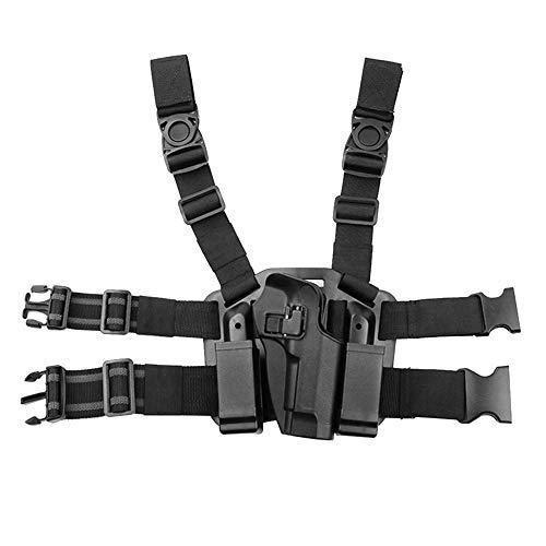 MiOYOOW Taktische Beinholster Pistolenholster mit Magazintasche...