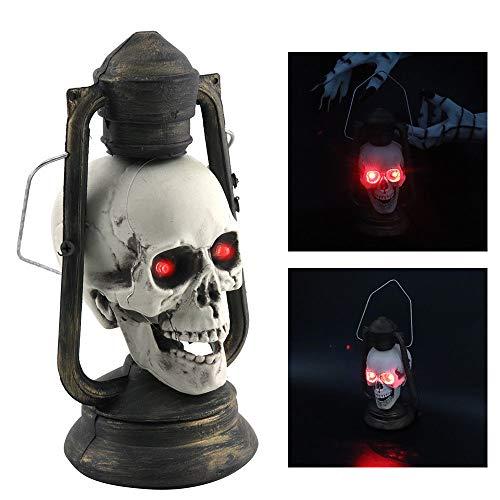 kashyk Halloween Laterne mit LED in flackernder Totenkopf, für...