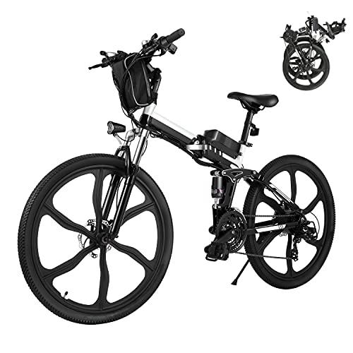 Elektrofahrrad E-Bike Klapprad, 26 Zoll Ebike Herren 250W...