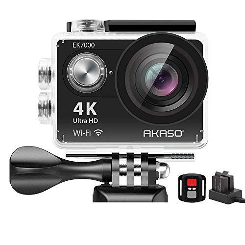 Action Cam 4K AKASO WiFi Action Kamera 30M Unterwasserkamera...