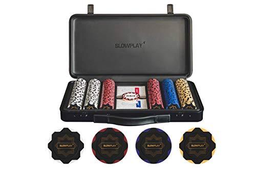 SLOWPLAY Nash Pokerset, 300 Poker Chips ohne Werte   profi...