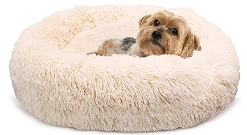 Docatgo Hundebett, Katzenbett, Haustierbett, 60x60cm Donut Bett...