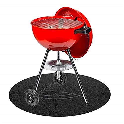Gas-Grillmatte, runder Teppich, Feuerschalenschutz, für Ofen,...