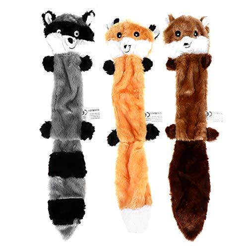 ABOOFAN Quietschspielzeug für Hunde, ohne Füllung, Plüsch,...
