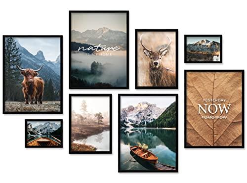 ARTFAVES® Poster Set - MYSTI Mountains | Wanddeko Wohnzimmer &...