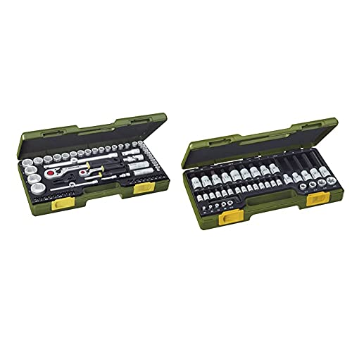 PROXXON Steckschlüsselsatz, Komplettsatz mit 1/4'' und...