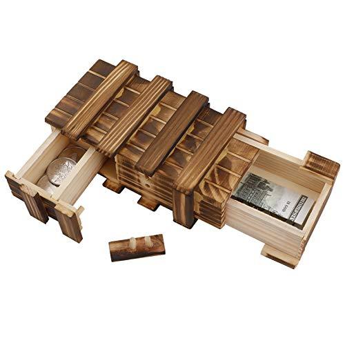 You&Lemon Holz Geschenkbox, Magische Rätselbox mit 2 Sicheren...