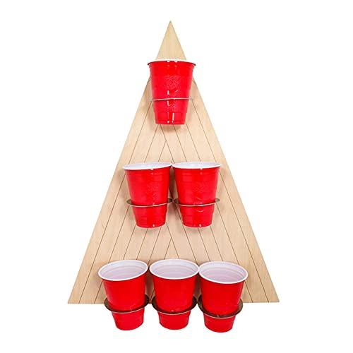 Bier-Pong-Set Pong-Spiel-Set mit Brett und 6 Tassen - direkt an...