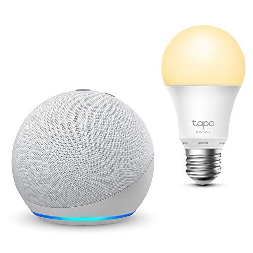 Der neue Echo Dot (4. Generation), Weiß + TP-Link Tapo smart...