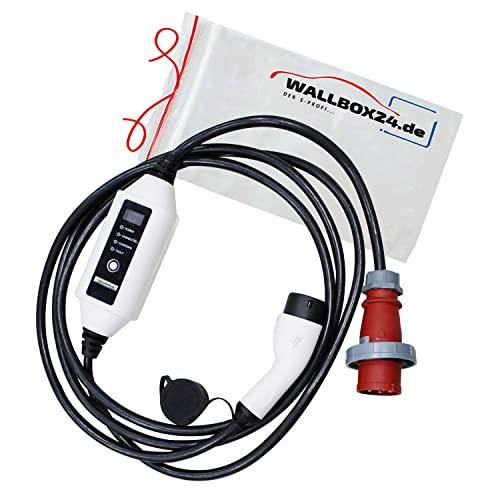 Wallbox24 Ladegerät tragbar 3Ph CEE 400V 22kW 32A Typ 2 5m...