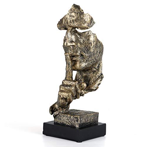 Gesicht Skulptur - Der Denker Statue - Schweigen ist Gold -...