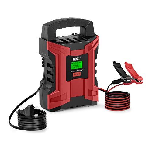 MSW Autobatterieladegerät Batterieladegerät Kfz Auto und Motorrad MSW-CBC-10ALCD (6 V/2 A, 12...
