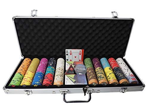 Pokerkoffer Pokerset Casino Profi Keramik Chips edles Zubehör...