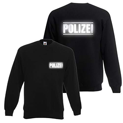 Shirt-Panda Herren Polizei Sweatshirt · Polizei Druck mit...