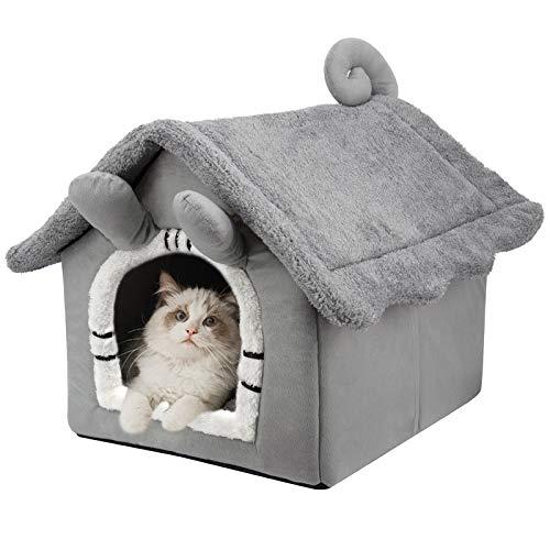 Macallen Katzenhöhle Katzenbett Faltbare Hundehütten Abnehmbare...