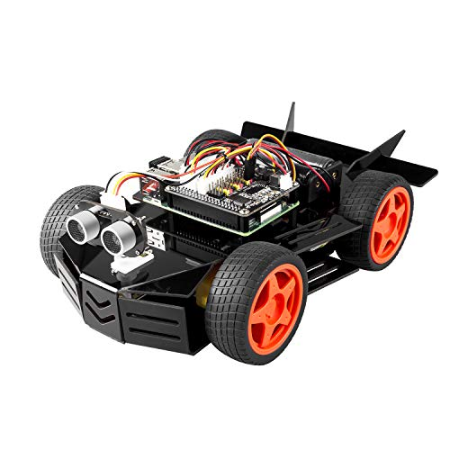 SUNFOUNDER Raspberry Pi Car Robot Kit, 4WD HAT Module, Ultrasonic...