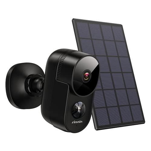Überwachungskamera Aussen Akku WLAN IP Kamera mit Solarpanel,...