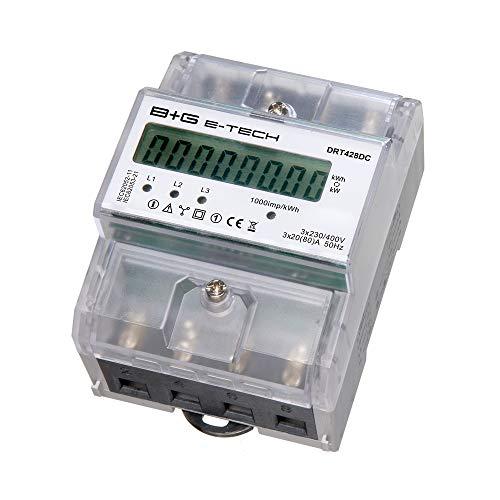 B+G E-Tech DRT428DC - digitaler 3 Phasen Stromzähler...