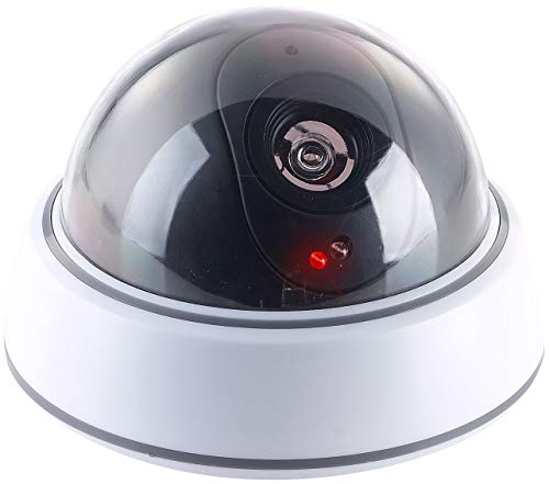 VisorTech Kamera Attrappe: Dome-Überwachungskamera-Attrappe mit...  *