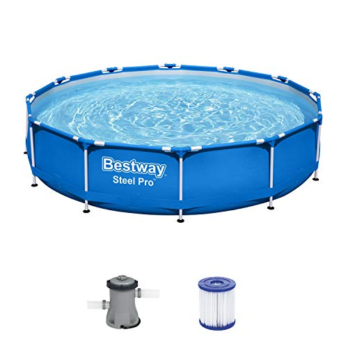 Bestway Steel Pro Frame Pool, 366 x 76 cm, Set mit Filterpumpe,...