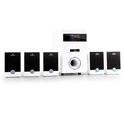 auna 5.1-JW 5.1 Surround Sound System Heimkinosystem (aktiv...