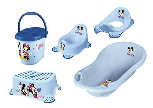 Disney Micky Maus 5er Set Badewanne + Töpfchen + WC Aufsatz +...