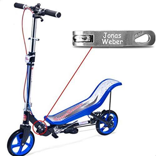 Space Scooter X 590 Premium blau MIT Gravur - für Kinder und...