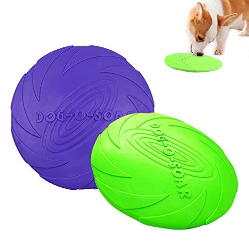 Frisbee Hund, 2 Stück Hundefrisbee Weich NaturKautschuk, Hunde...