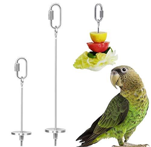 QIMMU 2 Stück Papageien Spieß Fruchthalter,Papageien Obst...