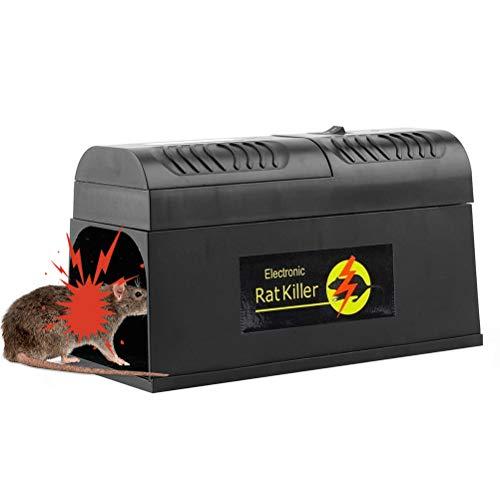 BovoYa Elektronische Rattenfalle, elektrischer Mäusekiller...