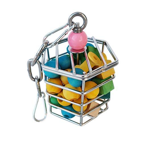 Chenso Papageienspielzeug, Papagei Edelstahl Futterspielzeug -...