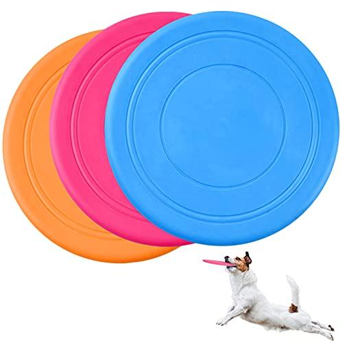 KONUNUS 3 Stück Hundefrisbee 18cm Hund Frisbee Fliegende...
