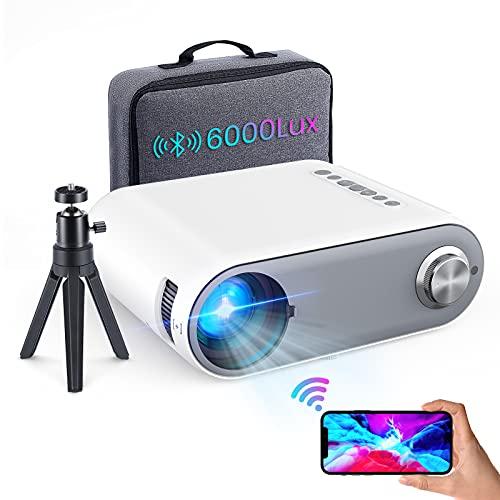 Beamer Full HD WiFi Bluetooth,6000 Lumen Mini Beamer Cube...