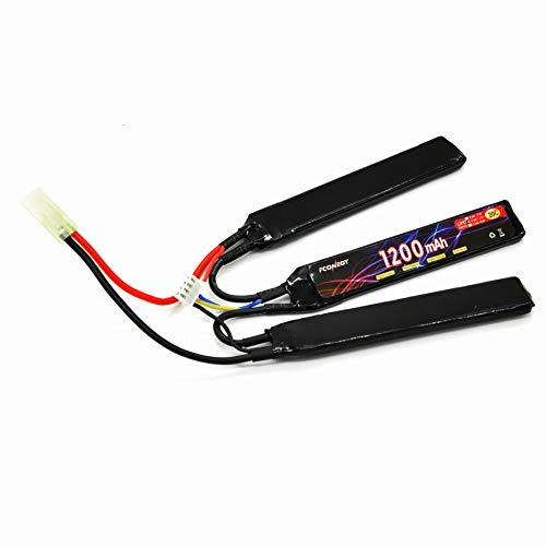 FCONEGY Softair Akku 11,1V 1200mAh 3S 20C Stick Pack Lipo...