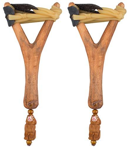 AceCamp 2 x Steinschleuder aus Holz, Retro Schleuder, Zwille,...