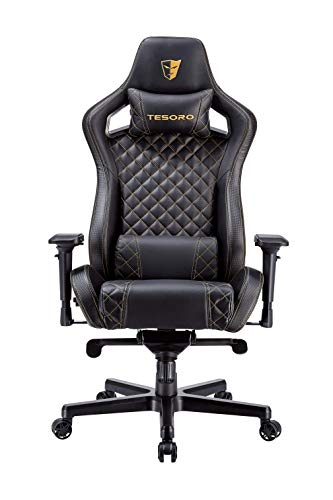 Tesoro Zone X Schwarz/Gold Gaming Stuhl F750 Gaming Chair...