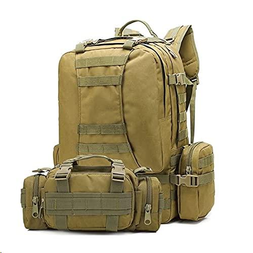 4-in-1 taktischer Rucksack 50 Liter Militärrucksack Armee...