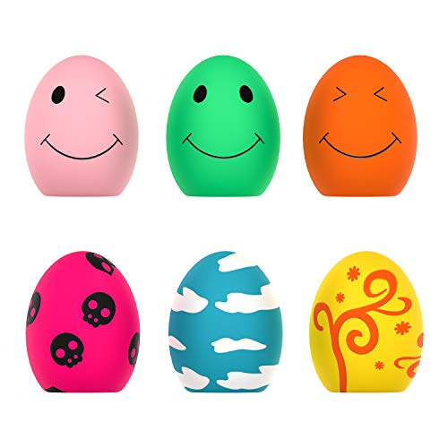 Quietschendes Spielzeug für Hunde, 6 PCS Rubber Bouncy Egg Balls...