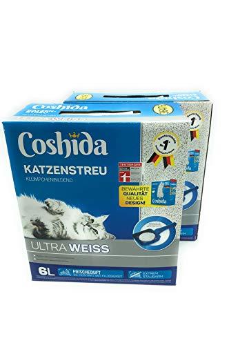 12 Liter **2 Packungen** Katzenstreu Klumpstreu Coshida ultra...