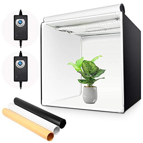 Yorbay Fotostudio Set 60 x 60 x 60cm LED-Fotobox Lichtbox...